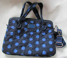 "Marc by Marc Jacobs 15"" Laptop Messenger Bag Pretty Nylon Polka Dot Used"
