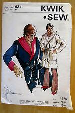 KWIK SEW VINTAGE Sewing Pattern #634 MENS TERRY ROBE SIZES S - XL