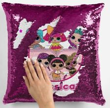 LOL Dolls Surprise Sequin Cushion Cover Magic Reveal Personalised Christmas Gift
