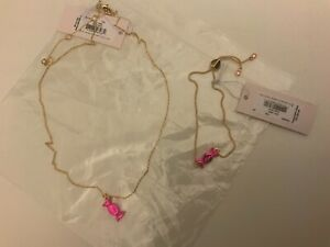 New Kate Spade New York Wrapped Candy Piece Necklace and bracelet set.