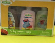 Sesame Street Baby Bath Pack Wash, Shampoo & Lotion Elmo & Big Bird