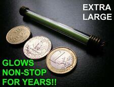 XL GREEN Tritium Keyring / Keychain Glows Non Stop For Decades! Glow In The Dark