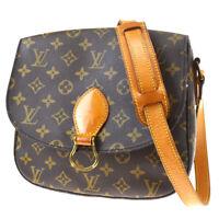 Auth LOUIS VUITTON Saint Cloud GM Shoulder Bag Monogram Brown M51242 73MF622