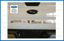 2018 Ford F150 Tailgate Insert Decals Letters Stickers CHROME DIAMOND PLATE