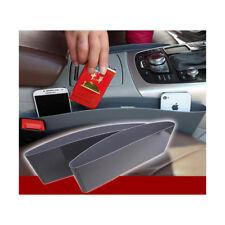 2pcs Plastic Car Seat Gap Slit Pocket Storage Box Organizer Holder Catcher Caddy