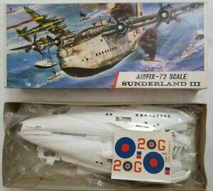 1964 AIRFIX #681 RAF SHORT SUNDERLAND III - 1/72 SCALE KIT - SEALED BAG
