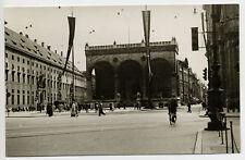 Munich 1936 : Feldherrnhalle sur la Odeonsplatz - Photo Vintage