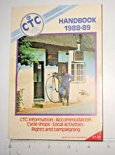 "Cyclist's Touring Club ""CTC Handbook 1988-89"" UK Manual  176 pages of UK cycling"