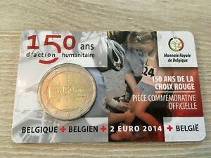 2 EURO BELGIQUE 2014 CROIX ROUGE COMMEMORATIVE NEUVE