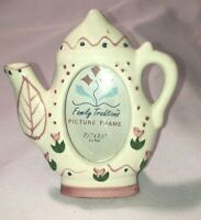 "Porcelain 2.5"" x 3.5"" Inch Teapot Picture Frame - super cute"