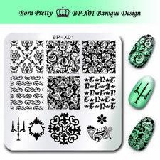 BORN PRETTY  Kunst Nagel Stempel Schablone Nail Art Stamp Baroque Floral