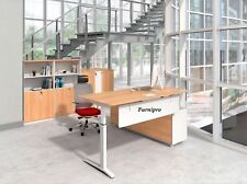 Electric Executive Height Adjustable Workstation with Buffet Return W2000mm