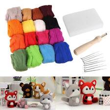 Jq_ Kf_ 27Pcs Woolen Yarn Needles Felting Handle Mat Set Diy Knitting Tool Kit