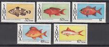 Samoa - Mi.-Nr. 600-604 -  Fische 1986 - postfrisch