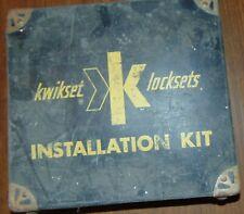 Vintage Kwikset Lock Set Installation Kit