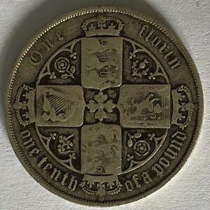 1883 Queen Victoria Silver One Florin