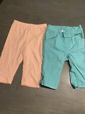 Lot Of 2 Baby Girl Capri Pants Crazy 8 Old Navy 18-24 Months