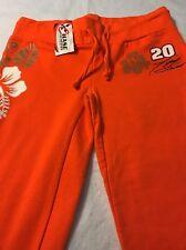 NASCAR TONY STEWART #20 Signed Orange Sweat Lounge Pants Women's Size Small NWT