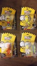 Simpsons Mania Bart  Lot of 4 Qee Figures Keychain NEW FREE SHIP US