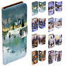 For HTC Series - Snow White Christmas Print Flip Case Wallet Mobile Phone Cover