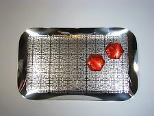 WMF Schale Tablett Cromargan Design Cocktail Tray Dish Textured Decor vintage