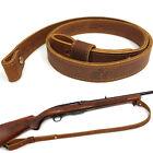 "Buffalo Hide Leather Rifle Gun Slings_Crazy Horse/Brown_Adjust Handmade_1"" Wide"