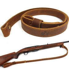 Buffalo Leather Rifle Sling_Gun Shoulder Straps, Brown Adjust Handmade