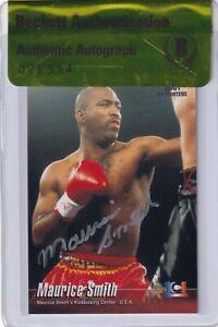 Maurice Smith Signed 2001 Epoch K-1 Grand Prix Card #47 BAS COA UFC Kickboxing