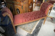 Large Beautiful Carved Wood Louis Xvi Vanity Window Bench Beautiful Upholstery