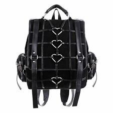 Restyle Geometry O-Ring Strap Black Denim Occult Witch Messenger Bag