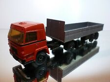 KIT MINI TRUCKS BUSSING TRUCK + TRAILER - RED + GREY 1:50 - GOOD CONDITION