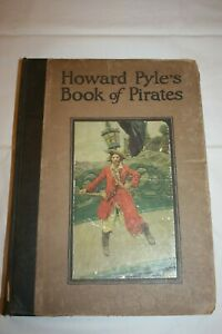 """1921 """"HOWARD PYLE'S BOOK OF PIRATES"""", 12.5"""" X 9"""", GOOD CONDITION"""