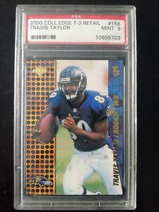 2000 Coll. Edge T-3 Travis Taylor Baltimore Ravens rookie card- PSA 9 MINT