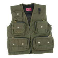 Multipocket Outdoor Fishing Vest Photography Waistcoat Jacket Army Green XXL