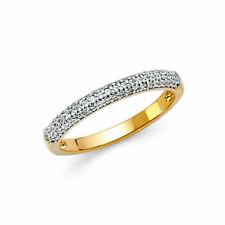14k Yellow Gold Round CZ Wedding Anniversary Ring Band