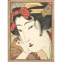 Eisen Rejected Geisha Passions Cooled Japanese Painting XL Wall Art Canvas Print