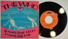 "7"" THE WHO – Summertime Blues • 45 RPM Spain 1970 EX+ * / Pete Townsend UNIQ PS"