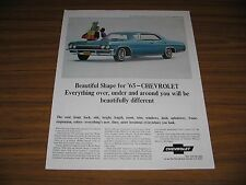 1964 Print Ad The 1965 Chevrolet Impala Sport Sedan 4-Door Chevy