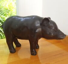 Piglet, animal, hand crafted, bronze, life-size, ornament, stature, decor item