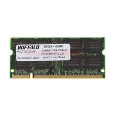 Buffalo Memory 1gb DDR Pc2700s SODIMM 333mhz Cl2.5 Intel RAM Laptop RAM @7h