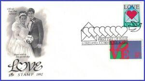 USA3 #2618 U/A ARTCRAFT FDC Combo2  Love Envelope