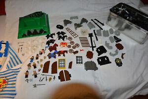 Lego  Teile Grau , Ritterburg , Figuren Schiff,