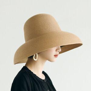 Women Big Brimmed Hat Fisherman Straw Hat Sun Top Hats Cap Beach Hepburn Style