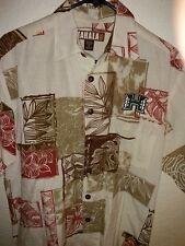 KAHALA™ 1936 Men's 50% Rayon 25% Cotton Camp Shirt U of Hawaii em. Logo S 22 P2P