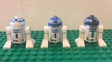 LOT OF 3 Star Wars LEGO Minifigure R2D2 Droids R2-D2