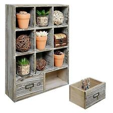 Shadow Box Rustic Wall Mounted Decor Cubby Storage Box Organizer Shelves New