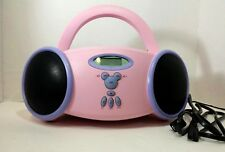Disney Princess Portable CD Player AM/FM Radio Pink and Purple Boombox