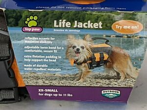 "DOG LIFE JACKET ""Top Paw' (Size XX Small) QUICK RELEASE BUCKLES  Up to 11lbs"