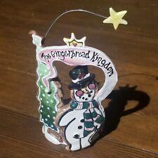 Blue Sky Clayworks Gingerbread Kingdom Snowman Heather Goldminc T-Lite Candle