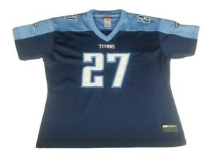 Eddie George Tennessee Titans Reebok Women's Blue Football Jersey Size XL